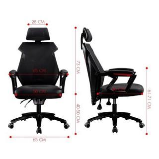 [TRỢ SHIP]BG Ghế chơi game cao cấp, chân xoay ngã 135 độ Thái Lan Mẫu E03 mẫu mới 2020 màu đen chân ghế bọc nhựa cao cấp - E03 BLACK chân nhựa thumbnail
