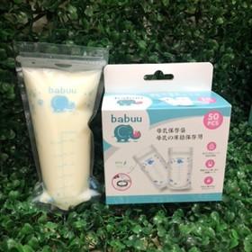 Túi trữ sữa Babuu Baby Nhật Bản hộp 50 chiếc loại to - TTS200