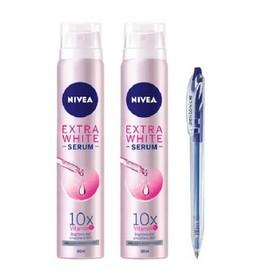 Bộ 2 Xịt khử mùi NIVEA Serum trắng mịn 100ml + Tặng kèm 1 Bút bi LINC PENTONIC - 8850029015514 x 2 chai-2