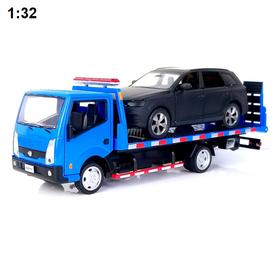 Xe mô hình ô tô cứu hộ Nissan cabstar 1:32 bằng kim loại có âm thanh và đèn đồ chơi trẻ em - Xe cứu hộ Nissan cabstar