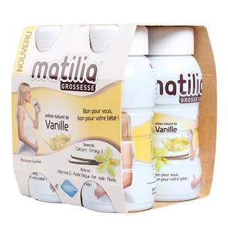 Vỉ 4 chai Sữa bầu Matilia Grossesse vị vani , socola - 62626262 thumbnail