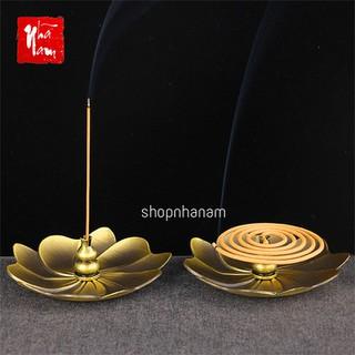 Đĩa đặt đế cắm nhang vòng, đặt hương cây hình hoa sen để lư trầm phụ kiện thác khói đĩa lót chén trà - TKPKCamNhangLon_DiaDatDe thumbnail