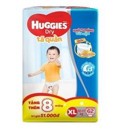 Tã quần Huggies XL62 (tặng 8 miếng)