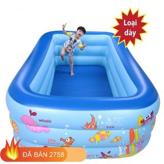 Bể bơi phao 1m8 3 tầng đáy chống trơn, hàng đặc biệt - Bể bơi thumbnail