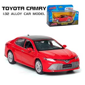 Mô hình xe ô tô Camry 2.5G mẫu mới 2019 tỉ lệ 1:32 - Xe bằng kim loại mở được cửa xe có âm thanh và đèn chạy bằng cót đồ chơi trẻ em - Camry 2019