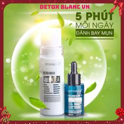 [TA FREESHIP] Combo Serum trị nám, mụn & mặt nạ thải độc Detox Blanc