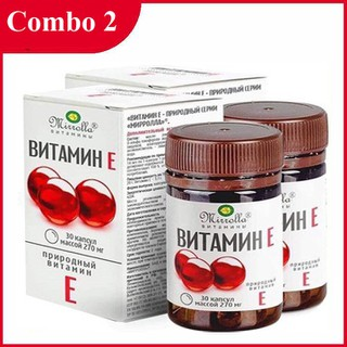 [COMBO 2 HỘP] Vitamin E Đỏ Nga Hộp 30 Viên chính hãng - Vitamin E Đỏ thumbnail