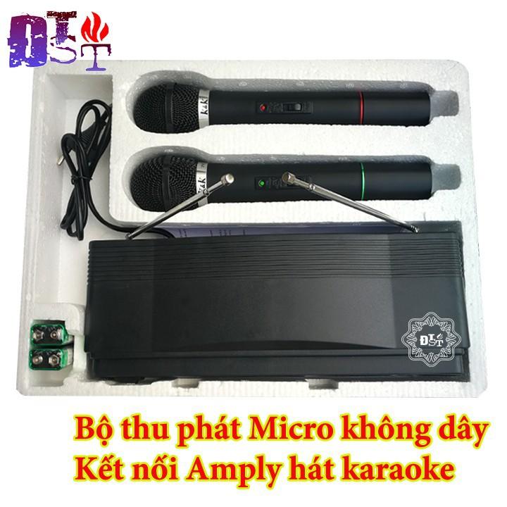 Bộ thu phát Micro không dây Kết nối Amply hát karaoke