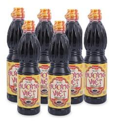Lốc 6 chai nước tương Hương Việt 500ml thanh vị thơm ngon hảo hạng
