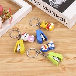 Móc khóa bấm kim mini kèm gấu - Móc khóa xe máy đa năng - Móc khóa ô tô - Móc chìa khóa ba lô