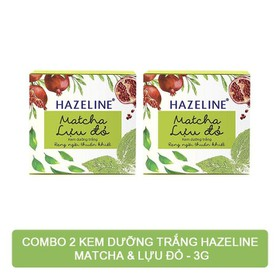 Combo 2 Kem Nén Dưỡng Trắng Da Hazeline Matcha & Lựu Đỏ 3g - 2hazeline