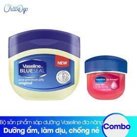 Bộ sản phẩm Vaseline sáp dưỡng mi đa năng và dưỡng môi Lip Therapy Rosy - CBMP00075.01