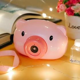 Máy ảnh thổi bong bóng con lợn- đồ chơi thổi bóng hình con lợn - MTB001-1