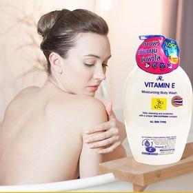(Date: 05/2023) [THƠM QUYẾN RŨ- TRẮNG DA - KHÁNG KHUẨN ] 01 Chai x 800ml Sữa tắm AR Cung cấp VITAMIN E Thái Lan. - sua tam AR Vitamin E Thái