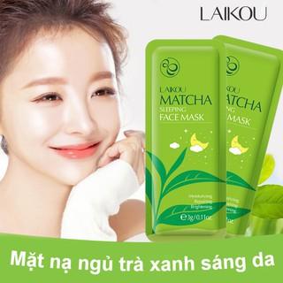 [GÓI 15 MIẾNG] Mặt nạ ngủ trà xanh LAIKOU dưỡng ẩm và chống lão hóa mặt nạ dưỡng da mặt nạ ngủ matcha mặt nạ nội địa Trung - KR-MN13 thumbnail