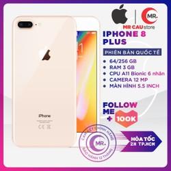 Điện thoại Apple iPhone 8 PLUS 64GB QUỐC TẾ 3GB RAM Hexa-core A11 Bionic Card Màn Hình 3 Nhân Màn Hình FULL HD Retina 5.5 inches 2 Camera Sau 12MP Selfie Cam 7MP Cao Cấp