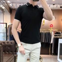 [MIỄN SHIP] [Được xem hàng- Chất mát] Áo thun ngắn tay body cổ bẻ tạo viền cá tính trẻ trung