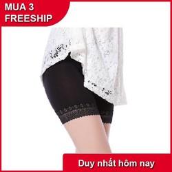 [MUA 3 FREESHIP- NHẬP MÃ SD2698 GIẢM THÊM 10K]]Quần mặc trong váy cotton đẹp 2 màu da và đen - có ảnh thật- size dưới 60 ký