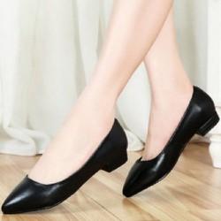 giày big size nữ đế vuông 1cm size lớn 40 41 42 43