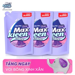 [FREESHIP NHẬN NGAY 1 VOI BÔNG] Combo 3 Túi Nước Giặt Xả Maxkleen Hương Huyền Diệu 2.4kg x 3