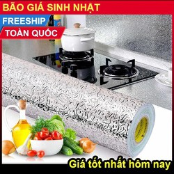 Combo 2 Cuộn Giấy Bạc Dán Bếp Chịu Nhiệt