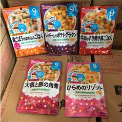 Cháo ăn liền Wakodo nhập Nhật cho bé từ 9 tháng
