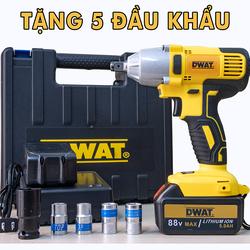 [ TẶNG 5 ĐẦU KHẨU ] Máy siết bulong Dwat 88V - Máy vặn bu lông, siết ốc dùng pin cầm tay