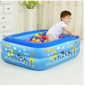 Bể bơi phao chữ nhật 2 tầng 1m2 cho bé - Bể bơi phao 1m2