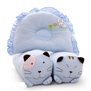 Bộ gối cho bé-Bộ gối ôm và nằm thung hình mèo cho bé-ngẫu nhiên - bộ thung mèo thumbnail