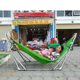 Võng xếp khung Inox Hòa Hậu kèm lưới võng cỡ đại - võng hòa hậu thumbnail