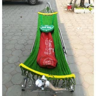 Võng xếp khung Inox - kèm lưới võng cỡ đại hiệu Hòa Hậu - võng xếp hh thumbnail