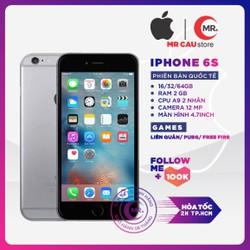 Điên thoại Apple iPhone 6S 16GB 32GB 64GB RAM 2GB QUỐC TẾ FullBox - Full Phụ Kiện Điện Thoại Smartphone Điện Thoại Thông Minh Giá Rẻ Bảo hảnh 6 thàng MR CAU