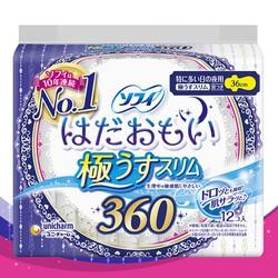 Băng vệ sinh ban đêm UNICHARM Sofy 36cm 12 miếng ( bao bì họa tiết ngẫu nhiên) Nội địa Nhật Bản