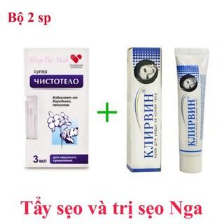 Bộ 2 sản phẩm trị sẹo Klirvin của Nga - BB101 thumbnail
