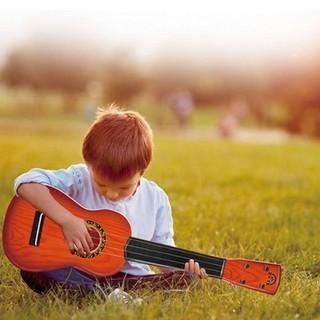Đàn nhựa giả gỗ - Đàn ghita mini cho bé - Đàn mini thumbnail