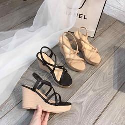 giày sandan đế xuồng dây chéo mới 2020