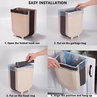Sản phẩm thùng rác thông minh gấp gọn treo trong xe ô tô vô cùng tiền lợi tiện lợi - thùng kẹp rác - treo tủ- hộp rác - Sản phẩm thùng rác thông minh gấp gọn- tủ rác thumbnail