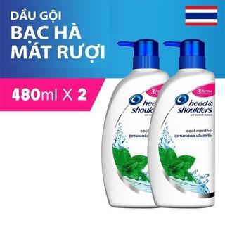 Combo 2 Dầu gội Head Shoulder Thailand Bạc hà 450ml - HST480 thumbnail