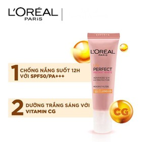 Kem chống nắng dưỡng da trắng sáng tức thì L'Oreal UV Perfect Instant White SPF50 - Kem chống nắng dưỡng da L'OREAL
