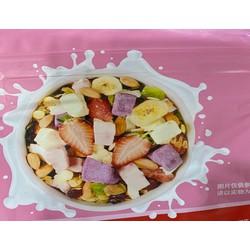 [miễn ship] Combo 2 Ngũ cốc QueshangLanTing mix các loại hạt và trái cây sấy khô 400gr
