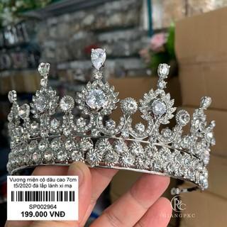 Vương miện cô dâu dáng 7cm chất liệu lấp lánh xi mạ không đen Giangpkc Sp002934 - Sp002934 thumbnail