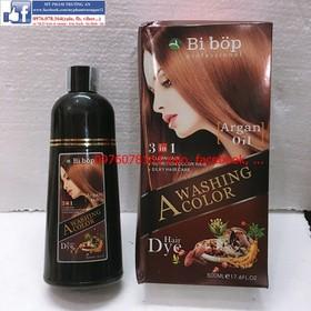 Dầu Gội Bibop Màu Nâu Phủ Bạc Mới - Bibop Brown Shampoo - gội nâu