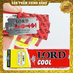 (Date: 05 năm) [MUA 6 FREESHIP] [ LƯỚT NHẸ - CẠO ÊM] 01 Hộp 10 cái dao lam, lưỡi lam trắng chuẩn LORD COOL Ai Cập