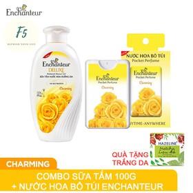 Combo Chai Sữa Tắm Nước Hoa Enchanteur Deluxe 100gr và Nước Hoa Bỏ Túi Tặng Hazeline - cbsuatamnuochoaquatanghazaline