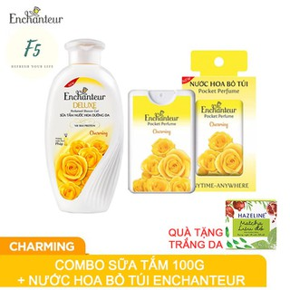 Combo Chai Sữa Tắm Nước Hoa Enchanteur Deluxe 100gr và Nước Hoa Bỏ Túi Tặng Hazeline - cbsuatamnuochoaquatanghazaline thumbnail