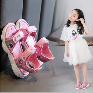 Giày sandal bé gái quai ngang từ 6 - 12 tuổi