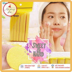 MÚT RỬA MẶT BỌT BIỂN (2 miếng) - bông mút rửa mặt (2 miếng - Loại 1)