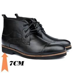 Giày tăng chiều cao nam S107, cao 7cm