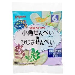 Bánh gạo ăn dặm cá, rong biển Pigeon 32g - Hàng nội địa Nhật
