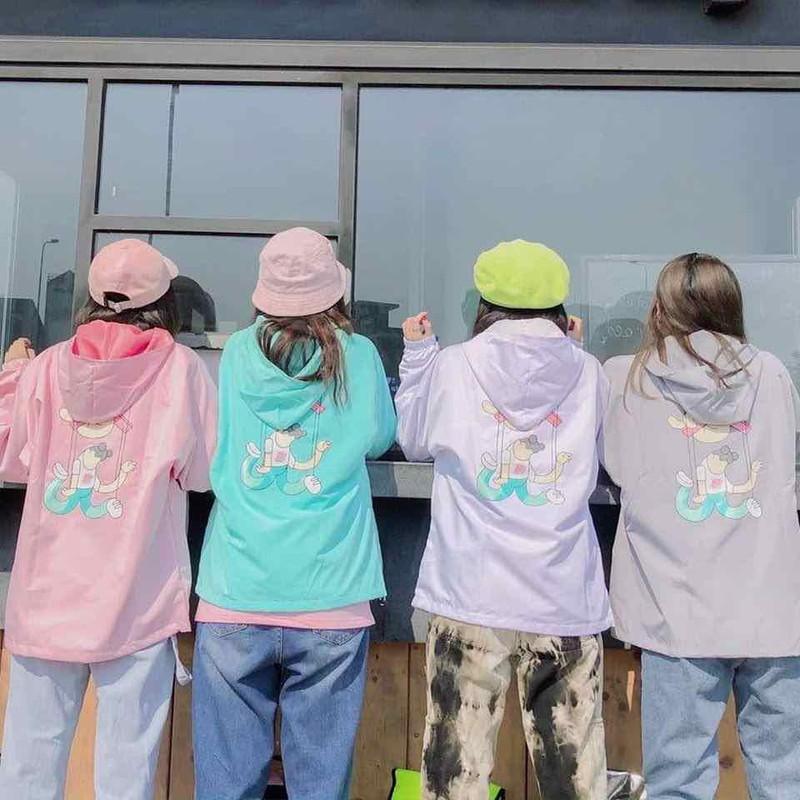 Áo khoác dù nữ dễ thương – AKDUDETHUONG